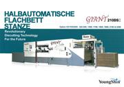 Halbautomatische Flachbettstanze 210DS
